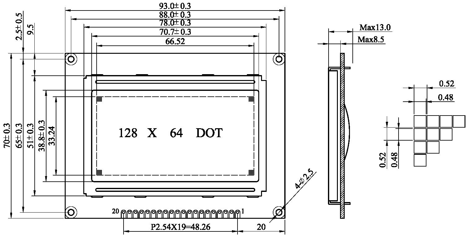 12864液晶显示模块概述