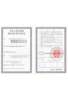 驰宇微组织机构代码证